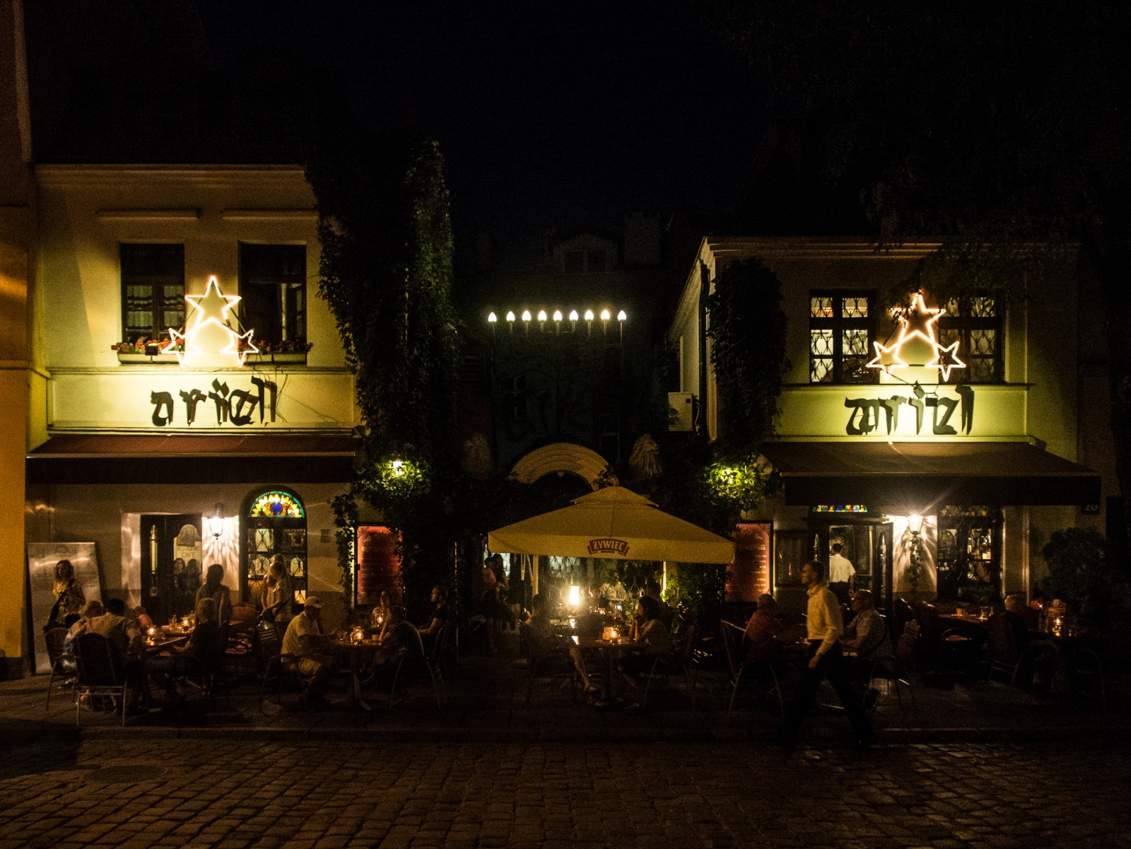 KAZIMIERZ BY NIGHT, POLAND - AUGUST 2015
